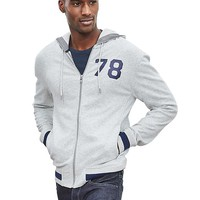 "Banana Republic Mens ""78"" Tipped Zip Hoodie"