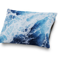 Blue Ocean Surf 2 - Pet Bed, Coral Fleece Nautical Style Pet Pillow Bedding, Beach Coastal Style Home Decor Accessory. In Small Medium Large