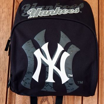 New York Yankees Distressed Shadow Logo Baseball MLB Mini Backpack Book Bag Tote