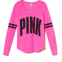 Sporty Long Sleeve Tee - PINK - Victoria's Secret