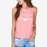 Coral Cali Muscle Tank