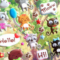 big eyes cats stickers Cutest cat meow meow moving eyes stickers cat theme puffy sticker happy cat kitten party adorable pussy decor gift