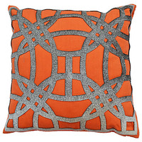 Sadie 18x18 Pillow, Orange