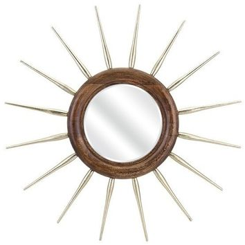 Rory Sunburst Round Wall Mirror
