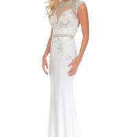 Precious Formals C70214 Slim Fitting Jeweled Prom Pageant Dress Evening Gown