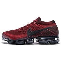 Nike Men's Air VaporMax Flyknit Running Shoe (Dark Team Red)