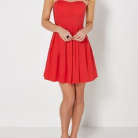 Red Pleated Tube Dress | Mini Dresses | rue21