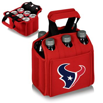 Houston Texans 'Six Pack' Beverage Carrier-Red Digital Print