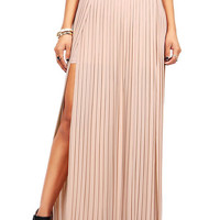 Split Pleat Maxi Skirt