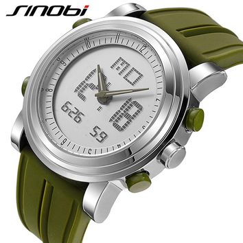SINOBI 2017 Sports Digital Men Women's Wrist Watches Stock Watch Date Waterproof Chronograph Running Clocks Montres Femmes
