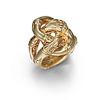 John Hardy - Bamboo 18K Yellow Gold Knot Ring - Saks Fifth Avenue Mobile