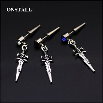 Bts earring Mens single sword stainless steel earring,guys jewellery,accessory, hipster, grunge style, punk, dagger earrings men