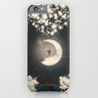 The Big Journey of the Man on the Moon  iPhone & iPod Case by Paula Belle Flores