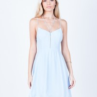 Strappy Front Flowy Dress