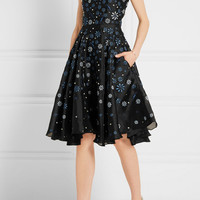 Holly Fulton - Ana Maria embellished silk organza dress