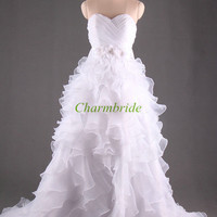 white a-line wedding dresses with flowers chic sweetheart wedding party dress elegant bridal gowns cheap wedding gowns