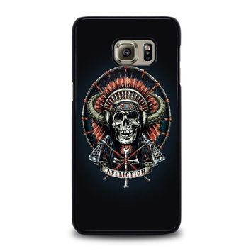 affliction indian skull samsung galaxy s6 edge plus case cover  number 1