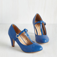 Vintage Inspired From A to Chic Heel in Cerulean by ModCloth