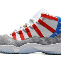 2017 Fashion New Arrival Air Jordan 11 Retro High Tops American Flag Sneaker