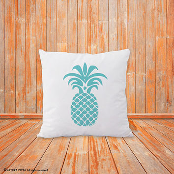 Pineapple pillow-pineapple decor-home decor-pineapple pillow cover-botanical pillow-pillow-beach pillow-coastal pillow-NATURA PICTA-NPCP048