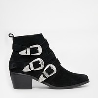 ASOS ROCKER AND ROLLER Multi Buckle Ankle Boots