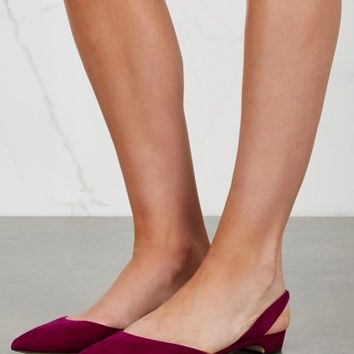 Rhea wine pointed suede pumps - Women - New In
