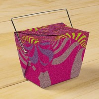 Pink Rainbow Star Take Out Favor Boxes