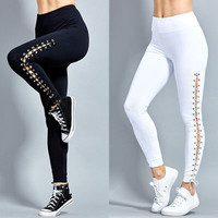 Sexy Women High Waist Casual Skinny Pants Stretch Slim Pencil Trousers Leggings