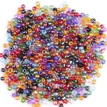 2000Pcs Mini Colorful Crystal Glass Spacer Bead for DIY Pendant Necklace Bracelet Earring Jewelry Accessories