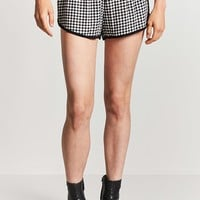 Gingham Print Dolphin Shorts