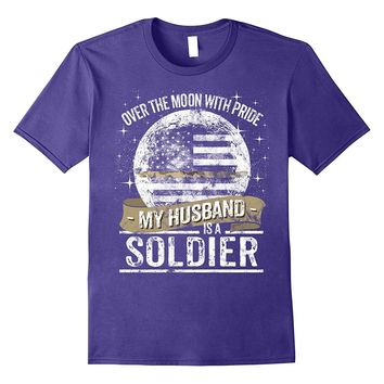 Soldier Husband Support Thin Camo Line Military T Shirt