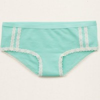 Aerie Women's Lace Runner Mini Boybrief (Fresh Teal)
