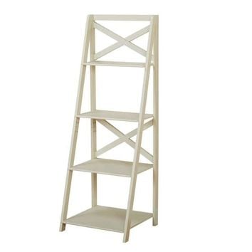 Simple Living Antique White 4-tiered X-Shelf Ladder Case | Overstock.com Shopping - The Best Deals on Office Storage & Organization