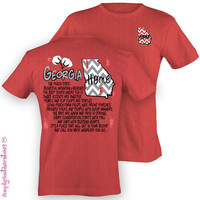 Simply Southern Funny Georgia Chevron Sweet Girlie Bright T Shirt