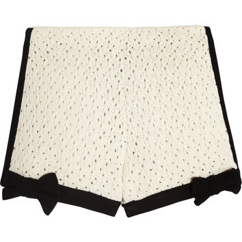 RED Valentino | Crocheted cotton-blend shorts | NET-A-PORTER.COM
