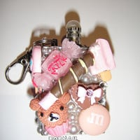 Kawaii Bling  Gas Oil Permanent Outdoor Camping w Key Chain Lighter