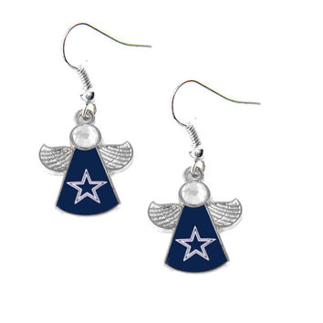 Dallas Cowboys Crystal Angel Wing Earrings