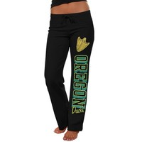 Oregon Ducks Ladies Frosh Fleece Sweatpants - Black