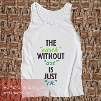 The Earth Casual Wear Sporty Cool Tank top Funny Tank Cute Direct to garment