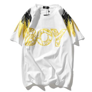 Boy London Summer New Fashion Letter Print Women Men Top T-Shirt White