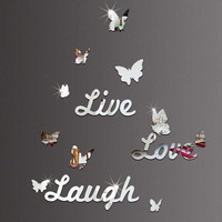 Butterfly Live Love Laugh Wall Sticker
