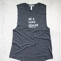 BE A HOPE DEALER SLEEVELESS MUSCLE TANK