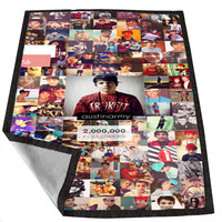 Austin Mahone Collage 643c4e47-304e-4eaf-bcec-83f1cfce94ea for Kids Blanket, Fleece Blanket Cute and Awesome Blanket for your bedding, Blanket fleece *02*