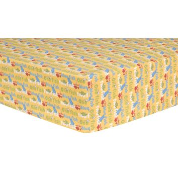 Dr. Seuss One Fish, Two Fish Titles Fitted Crib Sheet