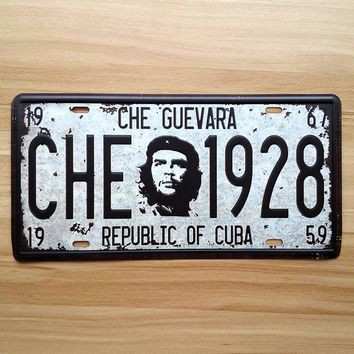 "Metal tin signs ""Che Guevara"" iron painting Vintage garage poster house bar coffee decoration retro craft 15*30 cm free shipping"