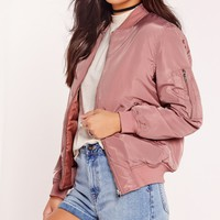 Missguided - Padded Bomber Jacket Pink