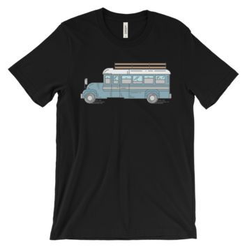"""Big Blue Bus"" Skoolie- Unisex T-Shirt"