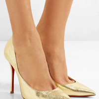 Christian Louboutin - Decoltish 100 textured-leather pumps