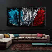 Red Blue Modern Wall Art Abstract Painting Large Luxury Style Original Paintings on Canvas Office Home Decor Nandita Albright 72x36/183x91cm