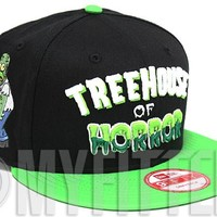 Accept paypal Payment, supply Cheapest The Simpsons Treehouse of Horror Zombie Homer Jet Black Slimeball Green New Era Snapback Hat : New Era Caps Online Sale